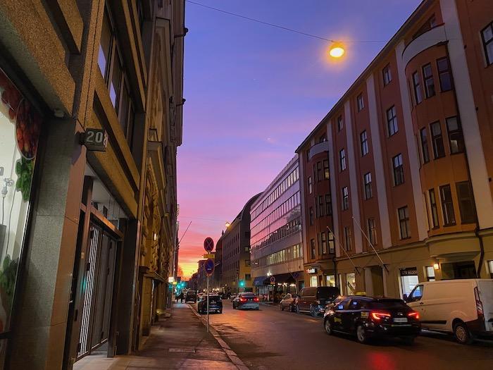 Helsinki, Finland street scene.